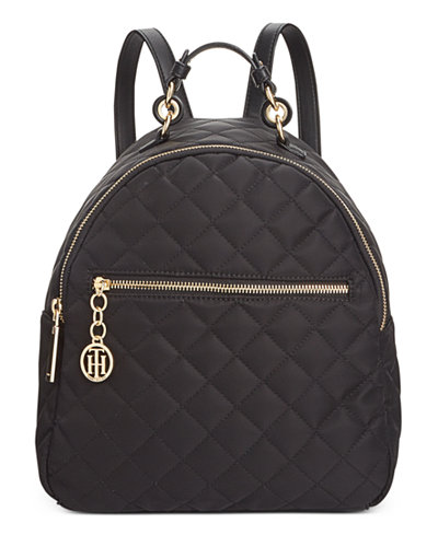 Tommy Hilfiger Isabella Quilted Nylon Dome Backpack