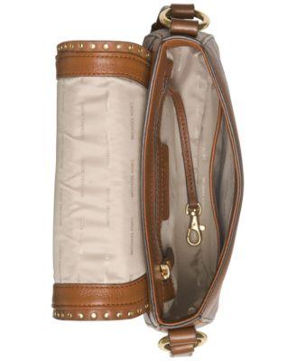 MICHAEL Michael Kors Brooklyn Suede Medium Saddle Bag