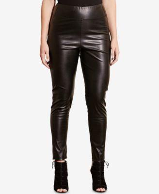 Lauren Ralph Lauren Plus Size Faux-Leather Leggings
