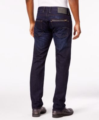 G-Star RAW Mens Attacc Slim-Straight Fit Dark Blue Jeans