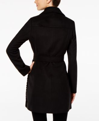 Calvin Klein Faux-Fur-Panel Walker Coat Image