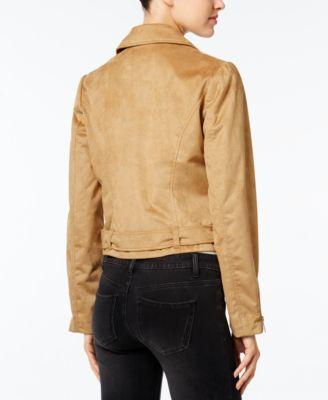 Wildflower Faux-Suede Moto Jacket