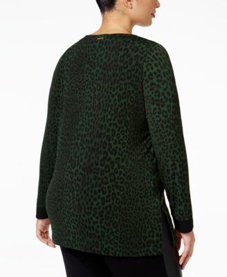 MICHAEL Michael Kors Plus Size Animal-Print Tunic