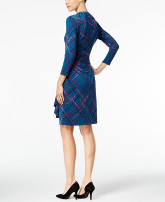 Anne Klein Ruffled Faux-Wrap Dress