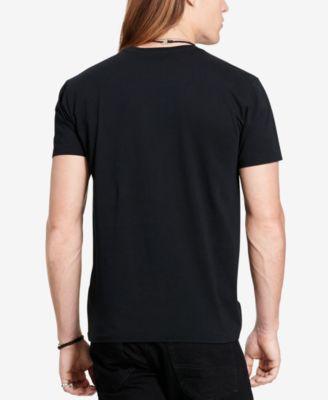 Denim & Supply Ralph Lauren Mens American Flag Motorcycle T-Shirt