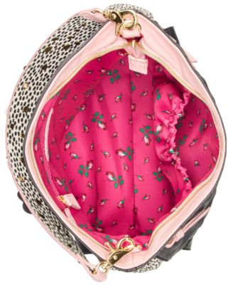 Betsey Johnson Flower Strap Hobo
