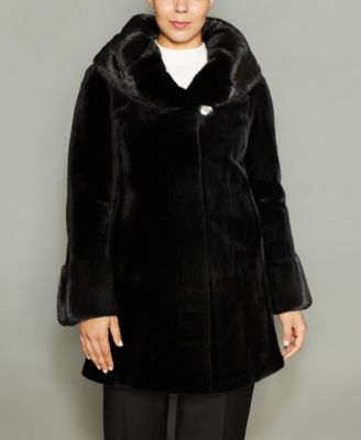 The Fur Vault Plus Size Mink Fur Coat