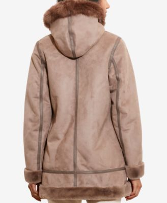 Lauren Ralph Lauren Faux-Shearling Hooded Coat