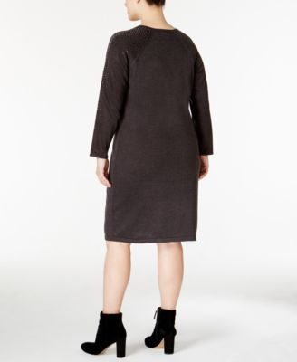 Calvin Klein Plus Size Studded Sweater Dress
