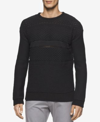 Calvin Klein Mens Multi-Textured Crew ..