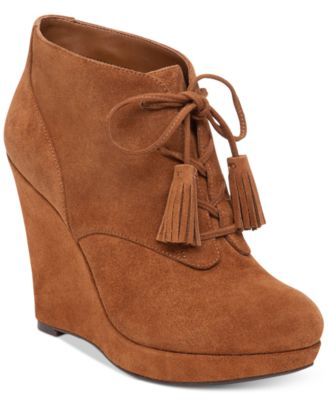 Jessica Simpson Cyntia Lace-Up Wedge B..