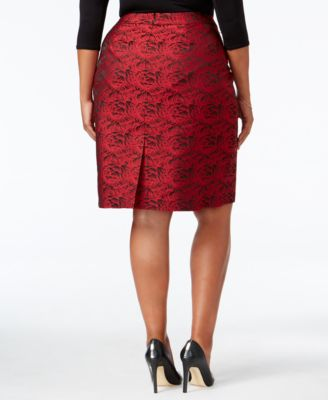 Calvin Klein Plus Size Floral Brocade ..