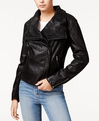 Levi S 174 Faux Leather Moto Jacket Coats Women Macy S