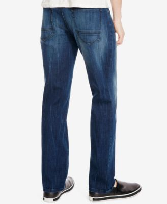 Kenneth Cole New York Mens Straight-Fit Medium Indigo Wash Jeans