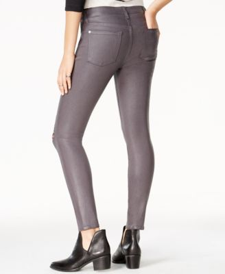 7 for All Mankind Coated Skinny Jeans Plum Wash