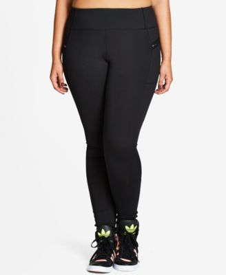 City Chic Trendy Plus Size Active Leggings