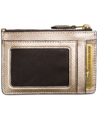 COACH Boxed Mini Skinny ID in Metallic..