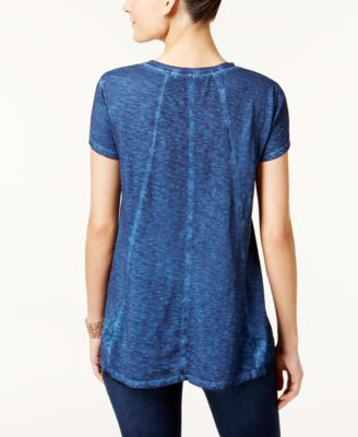 Style & Co. Seam-Detail High-Low T-Shirt