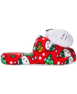 Hello Kitty Holiday Plush Head Slippers