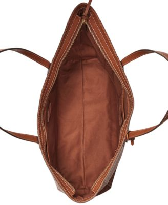Fossil Emma Leather Work Tote