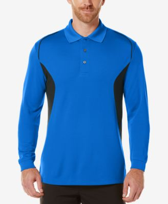 PGA TOUR Mens Colorblocked Long-Sleeve..