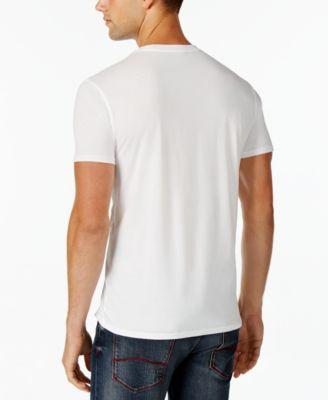 Armani Jeans Mens Eagle Crest Graphic-Print Logo T-Shirt