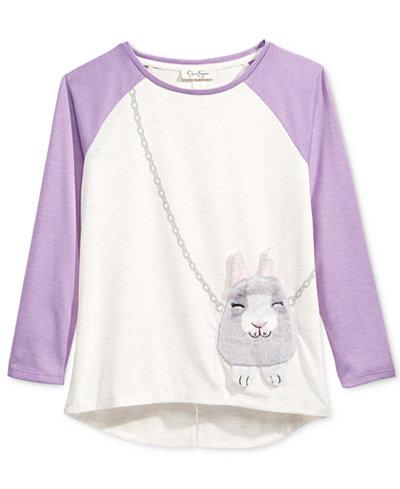 Jessica Simpson Ella Bunny Purse T Shirt Big Girls 7 16