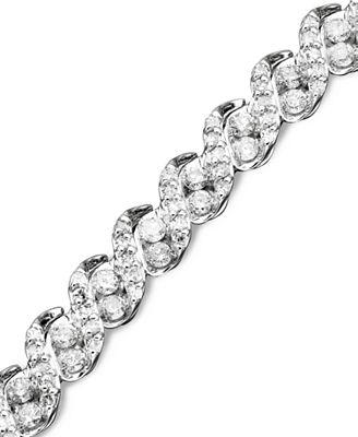 Diamond Bracelet in 14k White Gold (3 ct. t.w