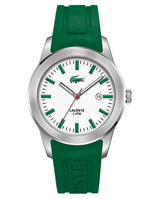 Lacoste Watch Men S Green Rubber Strap 2010412 Watches
