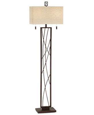 Pacific coast crossroads floor lamp lighting lamps for Macy s torchiere floor lamp