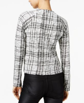 Bar III Plaid Mock-Neck Sweater