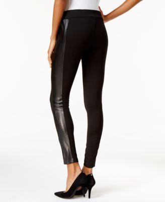 MICHAEL Michael Kors Faux-Leather-Panel Leggings