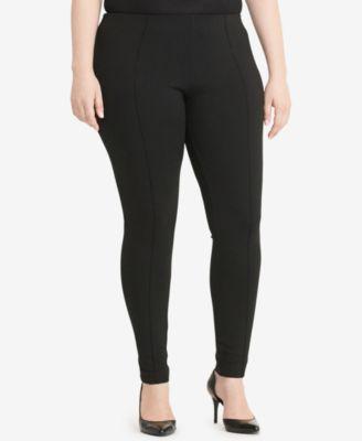 Lauren Ralph Lauren Plus Size Seamed Ponte Leggings